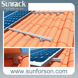tile pitched roof solar panel sloped roof mounting