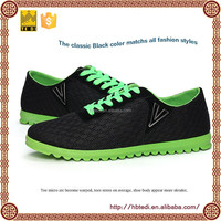2014 latest flat sole running shoes men in mesh lace up casual shoes