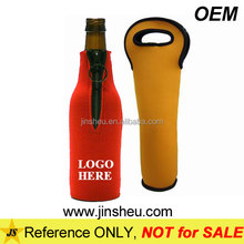 Custom Personalized Cheap Neoprene Insulated Beer Bottle Wine Tote Bag