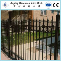 5' wrought iron fence post_outdoor fence