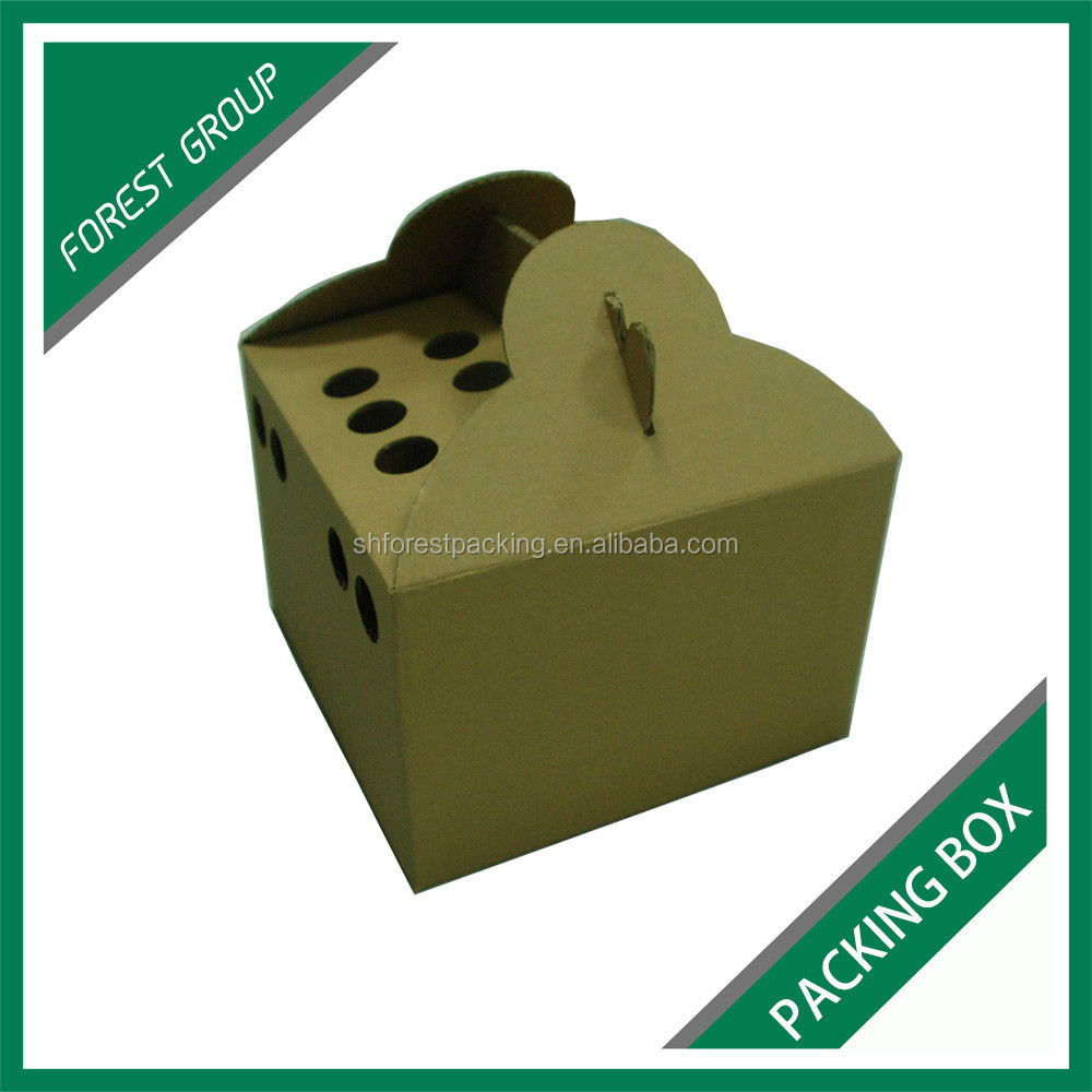 Customized Six Pack Bottles Carriers Juice Beverage Packaging Carton Box With Handles Buy