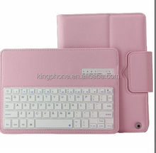 alibaba high quality new product separable type removable ABS bluetooth keyboard and protective leather case for ipad air