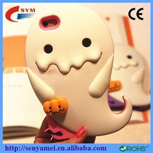 For iPhone 6 Case Silicone 3D Rubber Cover,For Apple iPhone 6 Plus Japan Cute Cartoon Ghost Design