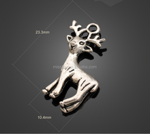 antique silver animal sika deer charms fashion alloy jewelry pendant