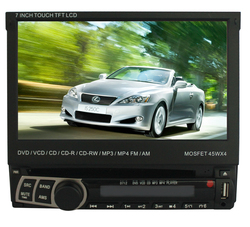 "7"" inch Car DVD Player With Touch Screen and Full Remote Control"
