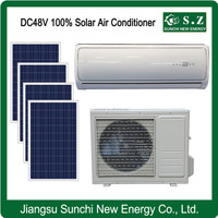 DC48V 100% home wall variable house solar power air conditioner with photovoltaic cell