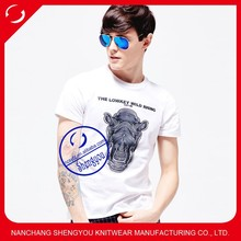 Custom 100% cotton popular top selling t shirt design with printing