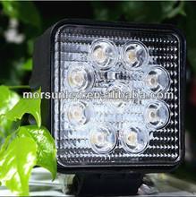 EMC Function 10-30V 12V 2250LM 6000K 4.3 Inch 27W LED Work Light