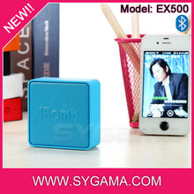 2015 new corporate gifts for executives high quality tech patent cube shape mini bluetooth speaker