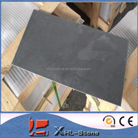 Black natural stone slate roof tiles