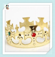 Cheap Plastic Party Fancy Dress Adult King and Queen Crowns HPC-1585