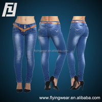Womens Ladies Blue Slim Fit Skinny Denim Jeans