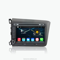 2din 8inch Android 4.4 1024x600 Car DVD player for Honda CIVIC 2012 with Radio GPS BT MP3 wifi 3g