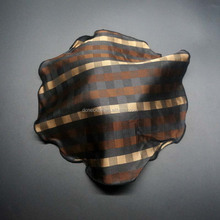 special shape with new rolled way silk woven scarf silk scarf