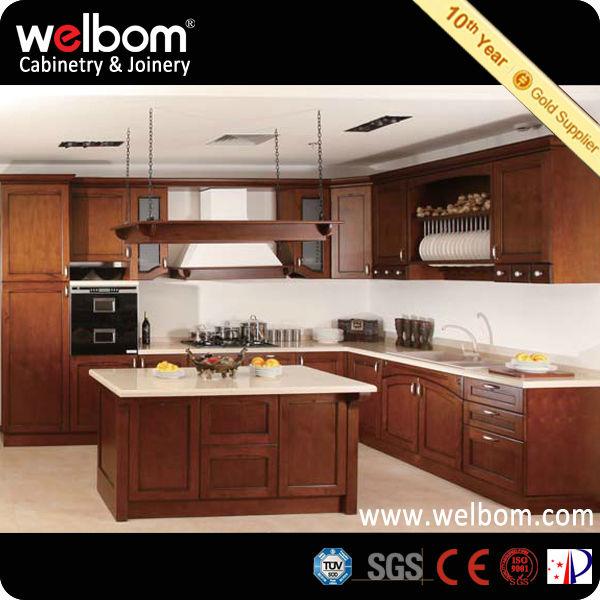 Estilo americano simple muebles de cocina de madera blanco for Cocina estilo americano