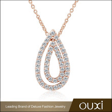 OUXI Unique Design top leader zircon jewelry necklace jewelry fashion
