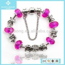Diy 925 Silver Glaze and Ceramics Oil Drip Beads Kiss Alphabet Letter Bracelet