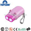 Animal shape 2 led kids mini hand crank led flashlight
