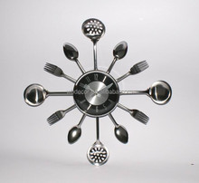 Kitchen Wall clock with Knife , fork and Spoon hands
