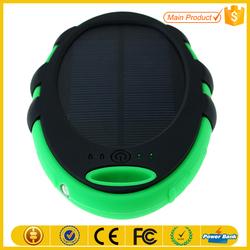 Ultra slim portable 2600mah usb power bank mini solar charger
