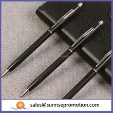 Gloden Chrome Logo Laser Printing Slim Metal Pen