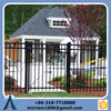Powder Coated Galvanized Steel Pressed Spear Top Security Square Tube Metal Picket Fence (Factory & Exporter)