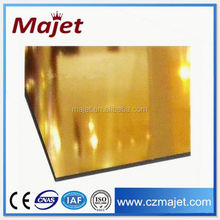 Matériaux de construction acp miroir d'or panneau composite en aluminium bardage intérieur