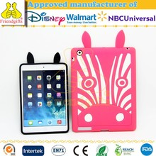 Fashion Custom Silicone Case for ipad Mini Cute Animal Shaped Silicone Case