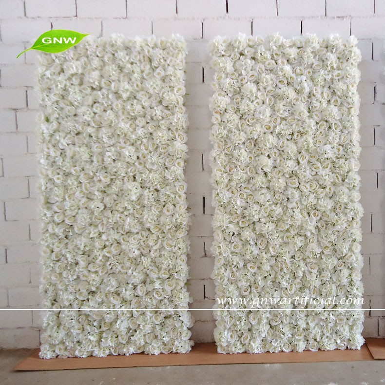 gnw 7ft white wedding backdrops for sale with rose and hydrangea wedding decoration flower wall. Black Bedroom Furniture Sets. Home Design Ideas