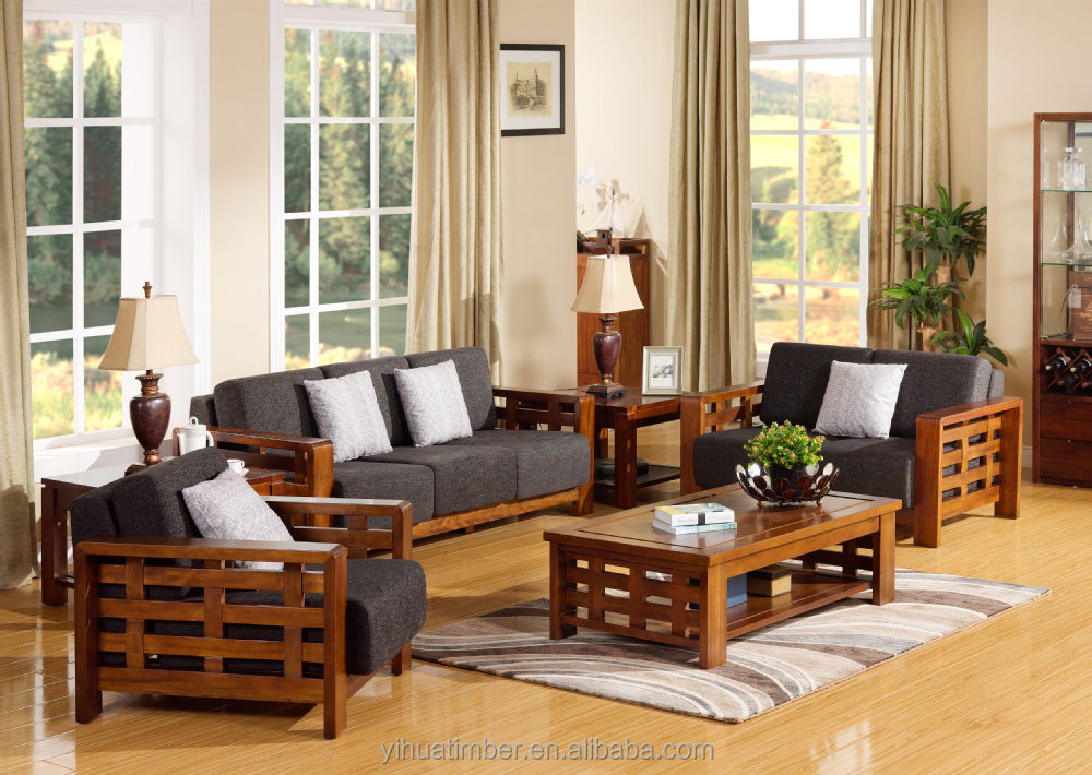 Sofa wooden sofa sets for living room wooden sofa sets for living room - Meuble Salon Bois Massif