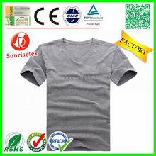 hot sale popular cheap bulk v-neck t shirt factory