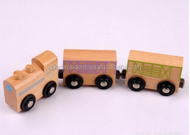 p detail Jeu en bois magnCAtique jeu de Construction enfants voitures Train aimant rames