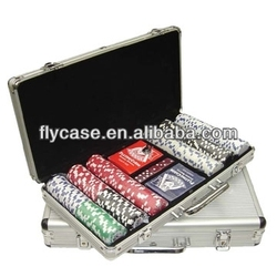 silver poker chip set abs casino poker chip case