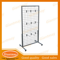 best selling products silver color metal hanging display stands for bags
