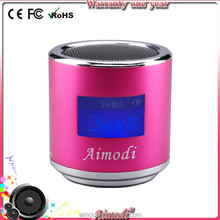 2015 novelty special transfer digital speaker wireless with led display screen