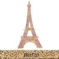 Fancylove alibaba eiffel tower pins brooch high quality alloy metal crysal brooch