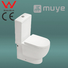 White Vitreous China Two Piece CE Watermark Toilet MY-2582