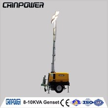 8kva ligthing tower diesel genset which supply power for emergency with kubato engine