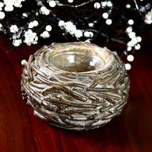 High Quality Resin Bird Nest Tealight Candle Holder Lucky Art Home Decor