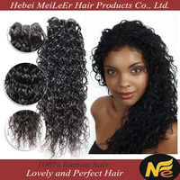 High quality large stock virgin brazilian jerry curl hair weave