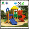 Tree house them plastic slide wooden playground with animal shape for kids QX-11055C