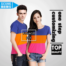 xc10-01 China new design knitted 90% cotton 10% lycra fabric t shirt no label plain blank tshirt
