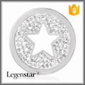 Legenstar bisutería venta al por mayor estrella placa medallón flotante Charms medallón de estar
