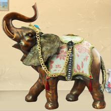 Philippines Antique Resin Brass Elephant With Bronze Brown Home Design Furniture Wedding Favors Folk Arts And Crafts Wholesale