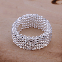 High quality fine mesh silver 925 new model ring