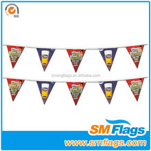 Decorative fabric bunting flags string flags
