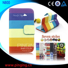 for Nokia Lumia 800 Case, Card Slot With Stand Wallet Leather Flip Cover Case for Nokia Lumia 800