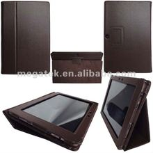 Super slim flip folio leather case for asus eee pad transformer prime tf201, For Asus 10 inch case tf201 leather