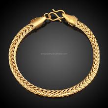 Gold Rope-shaped Glaze Copper Bracelet