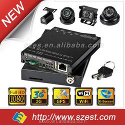 Black color 1/2/4CH 1080P Wifi GPS Car Camera 3G 4G Police Car/Taxi/Bus /Truck DVR